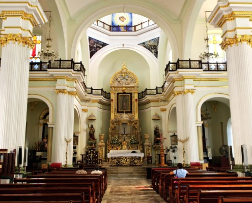 Our Lady of Guadalupe church interior in Puerto Vallarta, Jalisco, Mexico