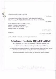 Madame Paulette Beaucarne