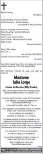 Madame Julia LORGE